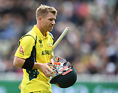 June 10th 2017, Edgbaston, Birmingham, England;  ICC Champions Trophy Cricket, England versus Australia; David Warner of Australia is dismissed and leaves the pitch