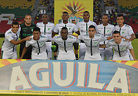 IBAGUÉ- COLOMBIA , 27-03-2018:Formación del del Deportivo Cali .Acción de juego entre los equipos Deportes Tolima y el Deportivo Cali  durante partido por la fecha 11 de la Liga Águila I 2018 jugado en el estadio Manuel Murillo Toro de la ciudad de Ibagué. /eportivo Cali. Action game between Deportes Tolima and Deportivo Cali during match for the date 11 of the Aguila League I 2018 at Manuel Murillo Toro  stadium in Ibague city. Photo: VizzorImage  /Juan Carlos Escobar / Contribuidor