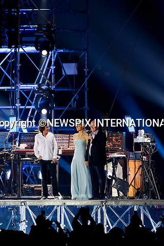 """MONACO ROYAL WEDDING Jean-Michel Jarre throws an electric concert in honor of H.S.H Prince Albert II and Miss Charlene Wittstock in Port Hercules.The Princely Couple addressed the crowds on stage before the show started, thanking everyone for their love and support.The Concert was also attended by Princess Caroline, Princess of Hanover, Andrea Casiraghi,Charlotte Casiraghi, Pierre Casiraghi and Princess Alexandra of Hanover_ Port Hercules, Monaco 01/07/2011..Mandatory Photo Credit: ©Dias/Newspix International..**ALL FEES PAYABLE TO: """"NEWSPIX INTERNATIONAL""""**..PHOTO CREDIT MANDATORY!!: NEWSPIX INTERNATIONAL(Failure to credit will incur a surcharge of 100% of reproduction fees)..IMMEDIATE CONFIRMATION OF USAGE REQUIRED:.Newspix International, 31 Chinnery Hill, Bishop's Stortford, ENGLAND CM23 3PS.Tel:+441279 324672  ; Fax: +441279656877.Mobile:  0777568 1153.e-mail: info@newspixinternational.co.uk"""