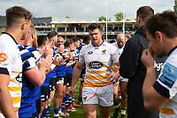 Will Rowlands of Wasps leads his team-mates off the field after the match. Gallagher Premiership match, between Bath Rugby and Wasps on May 5, 2019 at the Recreation Ground in Bath, England. Photo by: Patrick Khachfe / Onside Images