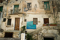 Diamante, Calabria, Italy, May 2007.  The historical center of Diamante is the canvas for many artists, who have painted murals throughout town. Many picturesque towns line the mountainous coastline of Calabria. Photo by Frits Meyst/Adventure4ever.com