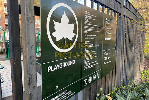 NEW YORK, NY - MARCH 24: A playground closed due to the coronavirus pandemic in New York City on March 24, 2020. <br /> CAP/MPI/RMP<br /> ©RMP/MPI/Capital Pictures