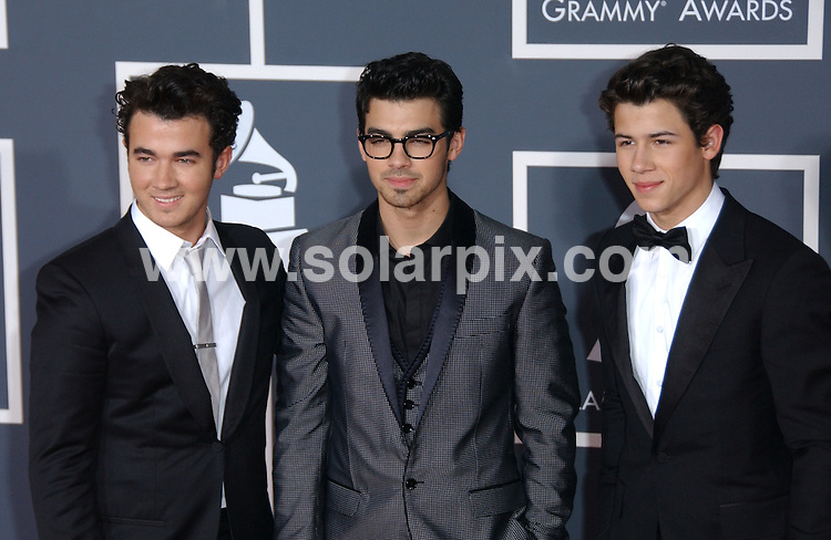 **ALL ROUND PICTURES FROM SOLARPIX.COM**.**SYNDICATION RIGHTS FOR UK, AUSTRALIA, DENMARK, PORTUGAL, S. AFRICA, SPAIN & DUBAI (U.A.E) ONLY**.arrivals for the 52nd Annual GRAMMY Awards at the Staples Center at the Los Angeles, CA, USA. 31 January 2010..This pic: Jonas Brothers..JOB REF: 10591 PHZ Ortega   DATE: 31_01_2010.**MUST CREDIT SOLARPIX.COM OR DOUBLE FEE WILL BE CHARGED**.**MUST NOTIFY SOLARPIX OF ONLINE USAGE**.**CALL US ON: +34 952 811 768 or LOW RATE FROM UK 0844 617 7637**