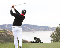 23 JAN 13   Robert Garrigus on the 6th tee North at The Farmers Insurance Open at Torrey Pines Golf Course in La Jolla, California. (photo:  kenneth e.dennis / kendennisphoto.com)