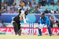 Henry Nicholls (New Zealand) drives to extra cover during India vs New Zealand, ICC World Cup Warm-Up Match Cricket at the Kia Oval on 25th May 2019