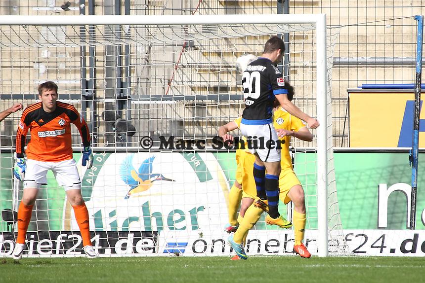 Kopfballchance Mathew Leckie (FSV) - FSV Frankfurt vs. VfR Aalen, Frankfurter Volksbank Stadion
