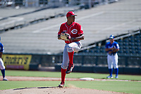 Cincinnati Reds pitcher Hunter Greene (21) during an Instructional League game against the Kansas City Royals October 2, 2017 at Surprise Stadium in Surprise, Arizona. (Zachary Lucy/Four Seam Images)