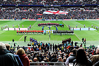 Picture by Simon Wilkinson/SWpix.com - 23/11/2013 - Rugby League - Rugby League World Cup Semifinals - New Zealand v England - Wembley Stadium, London, England - New Zealand and England lineup for anthems. GV, General View. Rugby League World Cup 2013 re edited 11/10/2017 Best Of