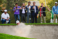Lee Westwood (ENG) hits from the trap on 9 during round 1 of the World Golf Championships, Mexico, Club De Golf Chapultepec, Mexico City, Mexico. 3/2/2017.<br /> Picture: Golffile | Ken Murray<br /> <br /> <br /> All photo usage must carry mandatory copyright credit (&copy; Golffile | Ken Murray)