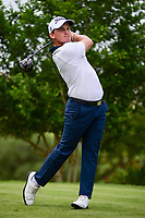 Bud Cauley (USA) watches his tee shot on 18 during round 2 of the Valero Texas Open, AT&amp;T Oaks Course, TPC San Antonio, San Antonio, Texas, USA. 4/21/2017.<br /> Picture: Golffile | Ken Murray<br /> <br /> <br /> All photo usage must carry mandatory copyright credit (&copy; Golffile | Ken Murray)