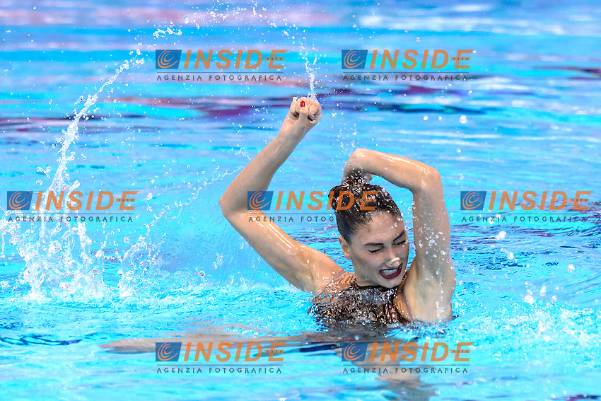 Evangelia PLATANIOTI GRE Greece<br /> Solo Free Final <br /> London, Queen Elizabeth II Olympic Park Pool <br /> LEN 2016 European Aquatics Elite Championships <br /> Synchronized Swimming <br /> Day 02 10-05-2016<br /> Photo Andrea Staccioli/Deepbluemedia/Insidefoto
