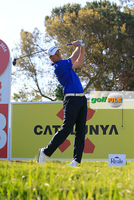 Robert Karlsson (SWE) on the 12th green during Thursday's Round 1 of The Open De Espana at The PGA Catalunya Resort. 15th May 2014.<br /> Picture:  Thos Caffrey / www.golffile.ie