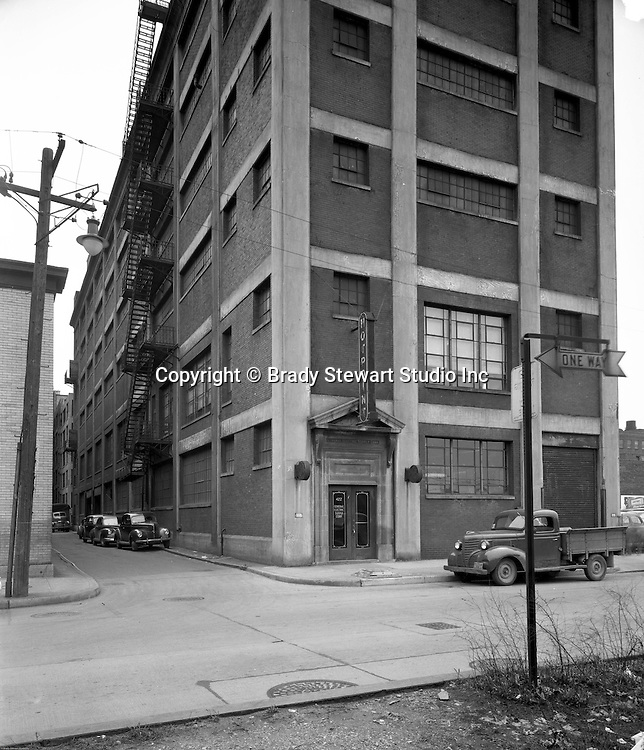 Pittsburgh PA:  General Electric Supply Building on the North Side of Pittsburgh - 1950.