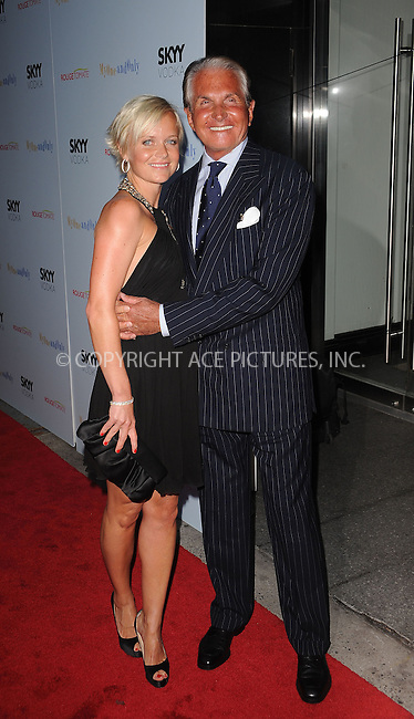 WWW.ACEPIXS.COM . . . . . ....August 19 2009, New York City....Barbara Strum and actor George Hamilton arriving at the premiere of 'My One And Only' at the Paris Theatre on August 18, 2009 in New York City.....Please byline: KRISTIN CALLAHAN - ACEPIXS.COM.. . . . . . ..Ace Pictures, Inc:  ..tel: (212) 243 8787 or (646) 769 0430..e-mail: info@acepixs.com..web: http://www.acepixs.com