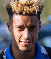 Lyle Taylor of AFC Wimbledon ahead of the pre season friendly 'Cherry Red Records Cup' match between Wycombe Wanderers and AFC Wimbledon at Adams Park, High Wycombe, England on 25 July 2017. Photo by Kevin Prescod.