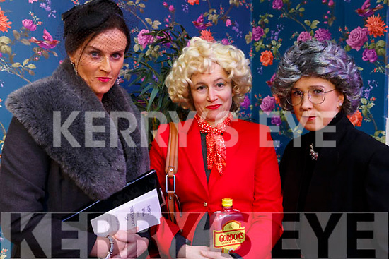 "Una Rahilly, Amanda Mannix and Jennifer Flaherty from the Ballymac drama group rehearshing ahead of their show ""Where there's a Will"" in the Ivy Leaf in Castleisland on Monday night last."