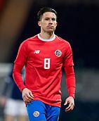 23rd March 2018, Hampden Park, Glasgow, Scotland; International Football Friendly, Scotland versus Costa Rica; Bryan Oviedo of Costa Rica