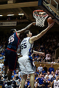 November 28, 2008. Durham, NC.. Duke vs. Duquesne at Cameron Indoor Stadium..Big man, Brian Zoubek, #55 center, had 6 points and 5 rebounds in the 95-72 Duke victory.