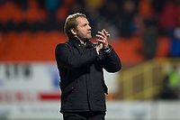16th November 2019; Tannadice Park, Dundee, Scotland; Scottish Championship Football, Dundee United versus Queen of the South; Dundee United manager Robbie Neilson applauds the fans at the end of the match - Editorial Use