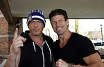"""Paul Logan (Days """"Glen Reiber"""") poses with Costas Mandylor as they attend Chiller Theatre Spring Extravaganza was held on April 27, 2014 at the Parsippany Sheraton Hotel in Parsippany, New Jersey.  (Photo by Sue Coflin/Max Photos)"""