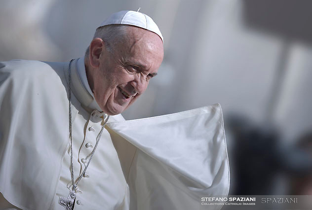 Pope Francis during of a weekly general audience at St Peter's square in Vatican.August 30, 2017