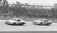 Mark Martin 4 Morgan Shepherd 2 action Firecracker 400 at Daytona International Speedway in Daytona Beach, FL on July 4, 1983. (Photo by Brian Cleary/www.bcpix.com)