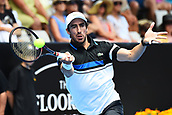 9th January 2018, ASB Tennis Centre, Auckland, New Zealand; ASB Classic, ATP Mens Tennis;  Pablo Cuevas (URU) during the ASB Classic ATP Men's Tournament Day 2