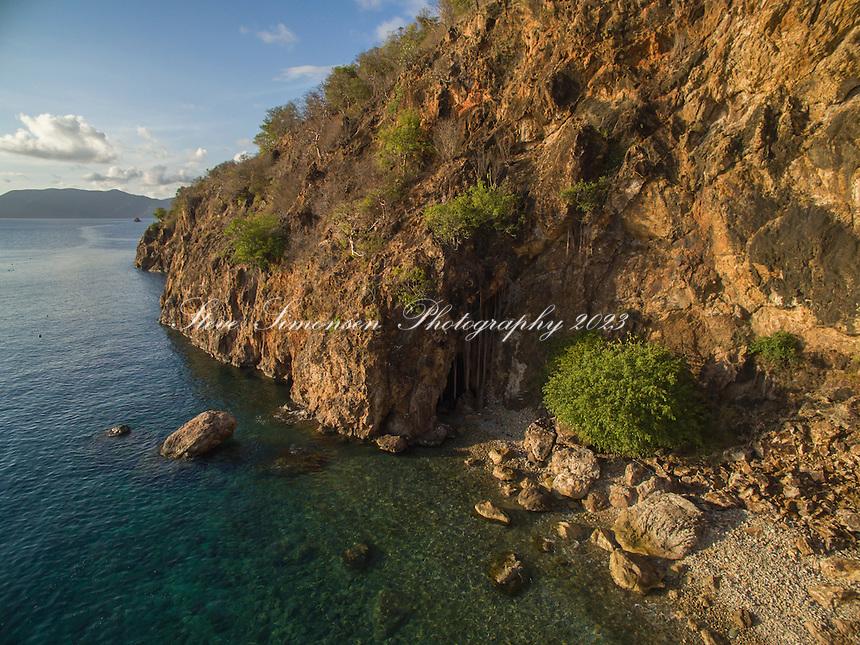 Aerial view of Norman Island<br /> British Virgin Islands
