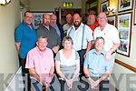 Pictured at their family reunion in Leens Hotel, Abbeyfeale on Saturday night were front row L-R Tom Rolfe, London, Geraldine Murphy, Abbeyfeale and Ted Rolfe, London. Back row L-R Pat, John, Christy, Mike, Francis, Martin and Denis Kelliher, Abbeyfeale.