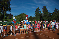 Netherlands, Dordrecht, August 03, 2015, Tennis,  National Junior Championships, NJK, TV Dash 35, Opening ceremony, <br /> Photo: Tennisimages/Henk Koster