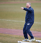 Ally McCoist at training about to reprise his Gangnam dance