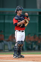 Atlanta Braves catcher Tanner Murphy (23) during an Instructional League game against the Houston Astros on September 22, 2014 at the ESPN Wide World of Sports Complex in Kissimmee, Florida.  (Mike Janes/Four Seam Images)