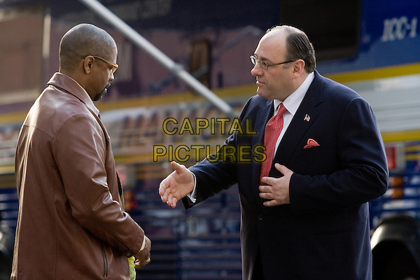 DENZEL WASHINGTON &amp; JAMES GANDOLFINI<br /> in The Taking of Pelham 1 2 3<br /> James Gandolfini has died of a suspected heart attack while on holiday in Italy at the age of 51 on June 19th, 2013<br /> *Filmstill - Editorial Use Only*<br /> CAP/FB<br /> Supplied by Capital Pictures