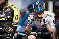 Matteo TRENTIN (ITA/Mitchelton-Scott) in the start line<br /> <br /> Stage 6: Peynier to Brignoles (176km)<br /> 77th Paris - Nice 2019 (2.UWT)<br /> <br /> ©kramon