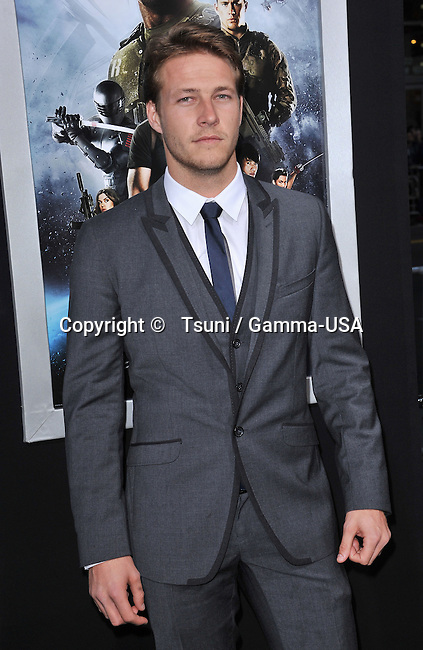 Luke Bracey  at the G.I. Joe Retaliation  Premiere at the Chinese Theatre In Los Angeles.