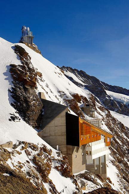 Jungrfrau Top of Europe Sphinx observatory, Jungfrau plateau Swiss Alps, Switzerland.