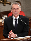 Jens Stoltenberg, Secretary General of the North Atlantic Treaty Organization (NATO) addresses a joint session of the United States Congress in the US Capitol in Washington, DC on Wednesday, April 3, 2019.<br /> Credit: Ron Sachs / CNP