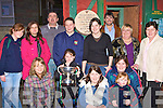 St Michaels/Foilmore supporters celebrating the arrival of the All-Ireland Intermediate cup to Shebeens bar, Caherciveen on Monday was front row l-r: Sharon Moran, Evan O'Sullivan, Colleen O'Sullivan, Gemma, Lorraine Moran. Denise Coffey, Helen Reidy, Denis Coffey, Sheila O'Sullivan, Anna Smith, Jerry Coffey, Bridie Moran and Mary O'Sullivan