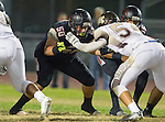 Lawndale, CA 11/11/16 - Rudy Sarellano (Lawndale #50) in action during the West Torrance - Lawndale CIF first round playoffs.  Lawndale defeated West Torrance 48-14.