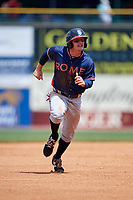 Rome Braves shortstop Riley Delgado (8) runs to third base during a game against the Lexington Legends on May 23, 2018 at Whitaker Bank Ballpark in Lexington, Kentucky.  Rome defeated Lexington 4-1.  (Mike Janes/Four Seam Images)