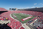 A general view of Camp Randall Stadium during the Wisconsin Badgers NCAA College Football game against the Florida Atlantic Owls Saturday, September 9, 2017, in Madison, Wis. The Badgers won 31-14. (Photo by David Stluka)