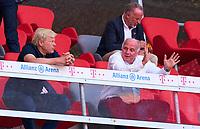 13th June 2020, Allianz Erena, Munich, Germany; Bundesliga football, Bayern Munich versus Borussia Moenchengladbach;  Oliver KAHN, future FCB CEO with Uli HOENESS (former FCB President) and  Karl-Heinz RUMMENIGGE (CEO, FCB)