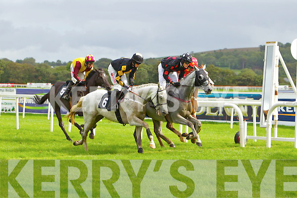 Action from Listowel Races on Sunday.