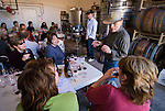 Amador Vintner's Behind the Cellar Door event..C. G. Di Arie Vineyard and Winery..Syrah seminar with Chaim Gur-Arich and his assistant explain the art of tasting to those gathered