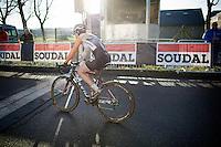 Sabrina Stultiens (NLD/Rabobank-Liv) wins the elite women's race<br /> <br /> CX Leuven Soudal Classic 2015