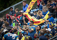 The Sri Lankan fans still in good spirits despite watching their batting collapse from a solid start during Afghanistan vs Sri Lanka, ICC World Cup Cricket at Sophia Gardens Cardiff on 4th June 2019