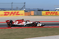 1st November 2019; Circuit of the Americas, Austin, Texas, United States of America; Formula 1 United Sates Grand Prix, practice day; Alfa Romeo Racing, Antonio Giovinazzi - Editorial Use