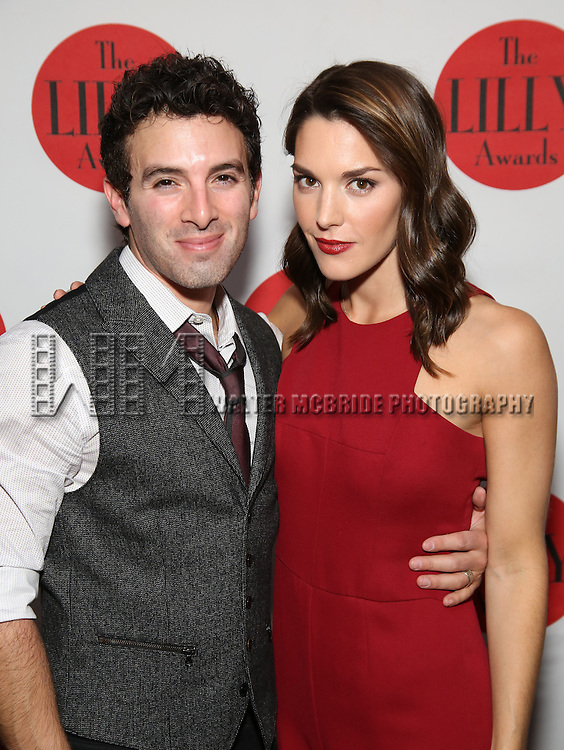Jarros Spector and Kelli Barrett attends The Lilly Awards Broadway Cabaret at the Cutting Room on October 17, 2016 in New York City.