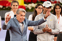 Carlos Santana and Rafa Nadal during Mutua Madrid Open 2018 at Caja Magica in Madrid, Spain. May 10, 2018. (ALTERPHOTOS/Borja B.Hojas) /NORTEPHOTOMEXICO