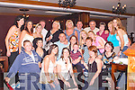 GET-TOGETHER: Helen O'Shea, St. Brendans Park, Tralee (4th from left back row), celebrated her 30th Birthday in The Station House, Blennerville, on Friday night last. Helen partied the night away in the company of her family and friends..